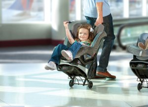 car seat luggage cart