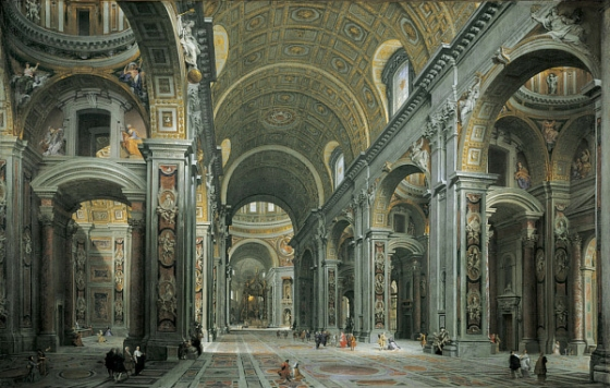 Giovanni_Paolo_Panini_-_Interior_of_St__Peter's,_Rome