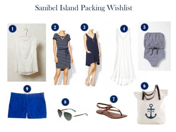 Sanibel Packing List